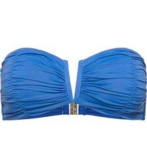 seafolly ruched bandeau bikinitop blå seafolly