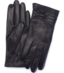 royce new york lambskin women's touchscreen cashmere gloves