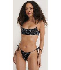 mango bikiniunderdel med snörning i sidan - black