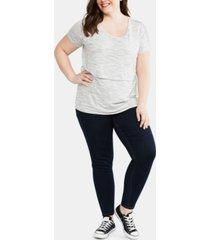 mama prima plus size post pregnancy v-pocket jeans