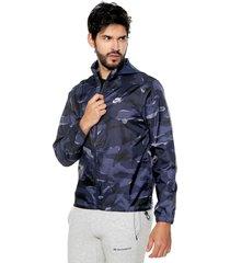 chaqueta azul-gris nike nsw ce jkt jd