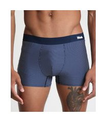 cueca masculina mash boxer risca de giz azul marinho