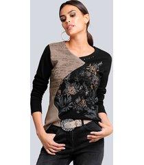 shirt alba moda zwart::zand