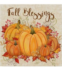 """jean plout 'fall blessings' canvas art - 14"""" x 14"""""""