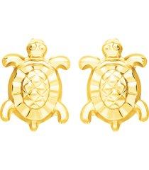 orecchini in oro giallo tartaruga per donna
