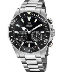 reloj actual plateado jaguar