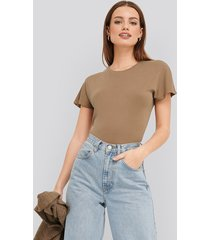 trendyol basic jersey tee - brown