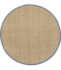 safavieh natural fiber natural and navy 6' x 6' sisal weave round area rug