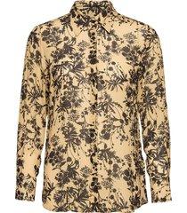 3430 - latia long overhemd met lange mouwen geel sand