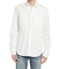 men's six week residency men's alejandro western shirt, size small - white