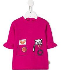 the marc jacobs kids character-print fleece dress - pink