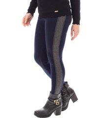 calça legging de malha sumaré 31101 azul
