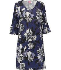 jurk printed blauw