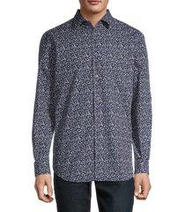 paul smith men's floral sport shirt - wine - size 16.5