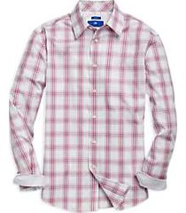 egara raspberry plaid sport shirt