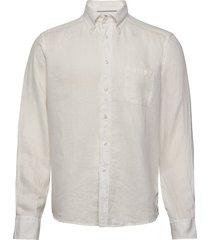 white luxe linen shirt overhemd casual crème eton