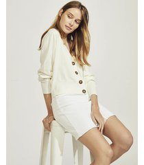 cardigan blanco portsaid cropped lisboa