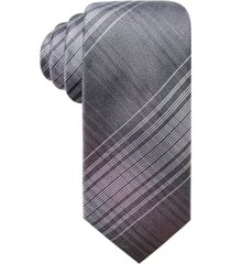 ryan seacrest distinction men's ionic plaid slim silk tie, created for macy's