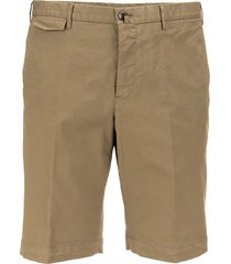 pt01 stretch cotton blend gabardine shorts