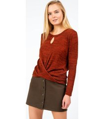 carianne front twist top - rust