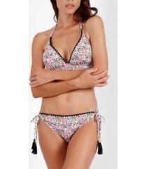 bikini admas ensemble 2 pièces bikini triangle préformé skin pink