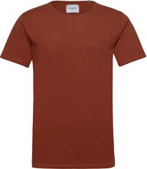 austin t-shirt t-shirts short-sleeved röd les deux