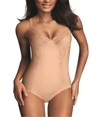 maidenform women's firm control embellished unlined body shaper 1456