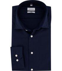 overhemd seidensticker donkerblauw shaped fit