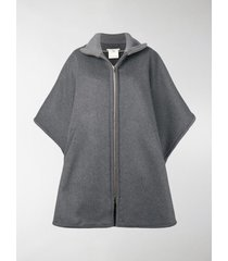 stella mccartney oversized zip-front cape