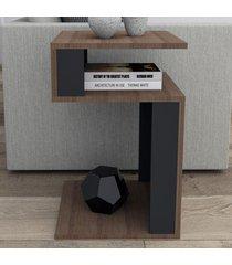 mesa de canto nogueira/preto mes4001 - appunto