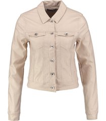 vero moda kort shimmer stretch jacket ivory cream