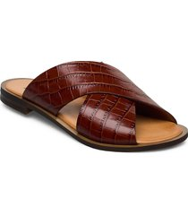 wide cross round shoes summer shoes flat sandals brun apair