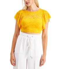 guess ania lace crop top