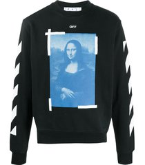 off-white mona lisa graphic print sweatshirt - black