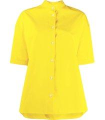 aspesi flared short-sleeved shirt - yellow