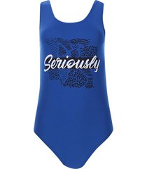 body seriously color azul, talla 10