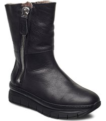 hedvig shoes boots ankle boots ankle boot - flat svart nude of scandinavia