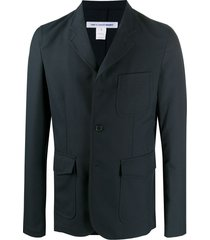 comme des garçons shirt single-breasted fitted blazer - blue