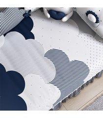 edredom beb㪠nuvem de algodã£o azul marinho grã£o de gente azul - azul - menino - dafiti