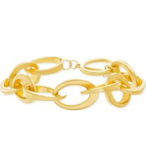 steve madden gold-tone interlocking link bracelet