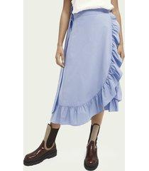scotch & soda maxi wrap organic cotton skirt