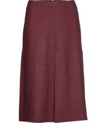d1. washable stretch wool skirt knälång kjol röd gant