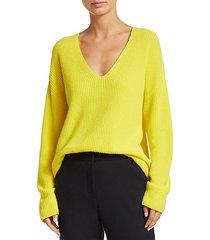 sierra v-neck ribbed sweater