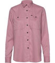 feminine worker shir overhemd met lange mouwen roze lee jeans