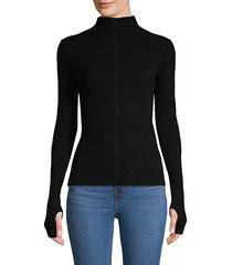 mockneck cotton sweater