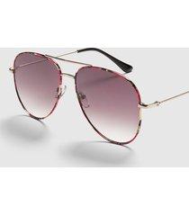 lane bryant women's aviator sunglasses - purple tortoiseshell print onesz acai purple