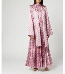 solace london women's elin midaxi dress - nude/lilac - uk 10