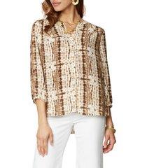 women's nydj pleat back blouse, size x-small - beige