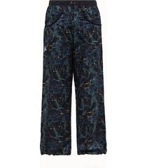 and wander pantalone in tessuto blu