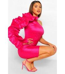 official one piece & joggingbroek set met opdruk, hot pink